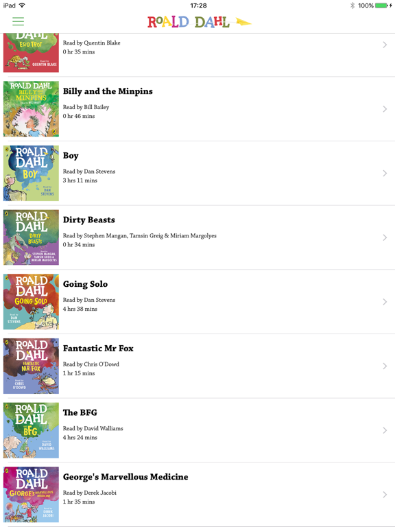 Roald Dahl Audiobooksのおすすめ画像4