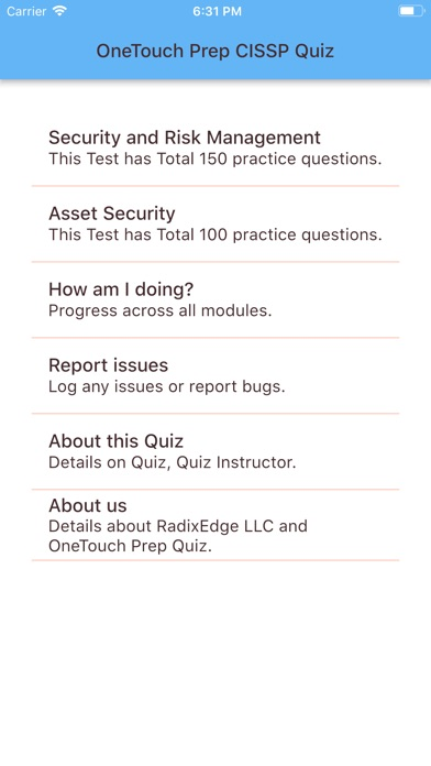 Screenshot for CISSP - Set One in United States App Store