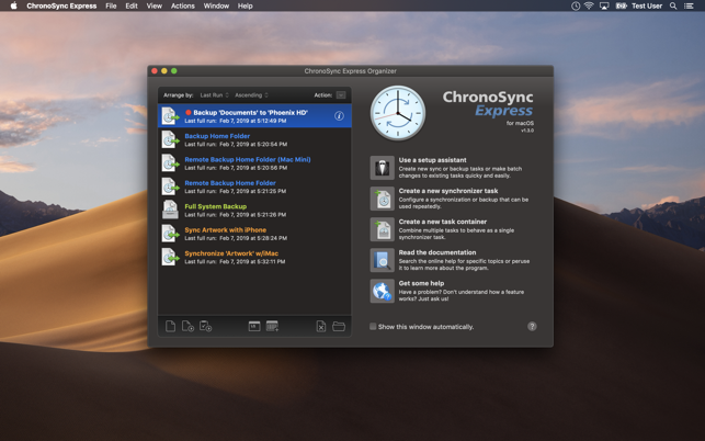 ChronoSync Express Updated To Version 1.3.2 Image