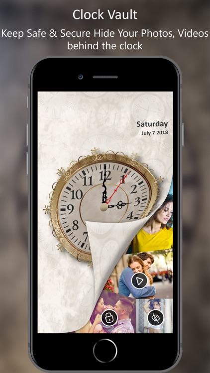 Clock Vault : Photo Video Lock