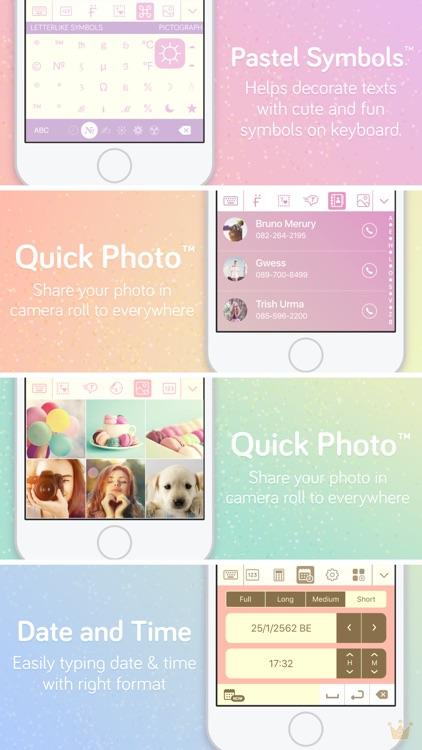 Pastel Keyboard Themes Color screenshot-6