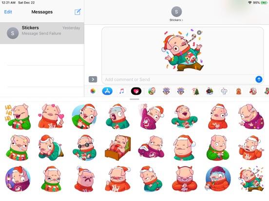 Christmas Piggy Funny Sticker screenshot 4