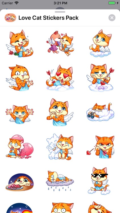 Love Cat Stickers Pack