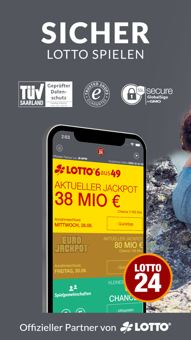 Herunterladen LOTTO App überall spielen für Pc