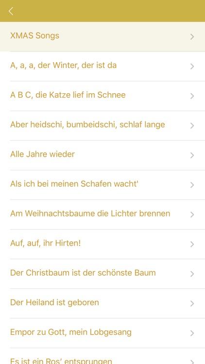Xmas Songs in German