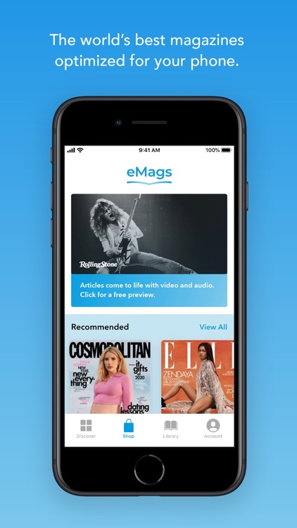 eMags Newsstand and Stories
