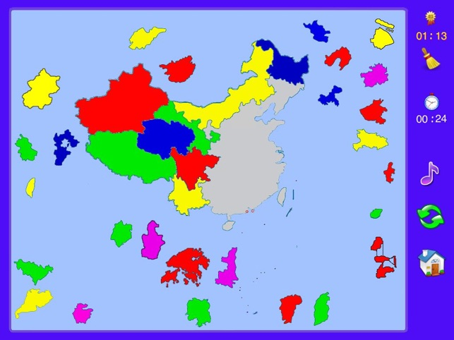 China Map Puzzle.China Puzzle Map On The App Store
