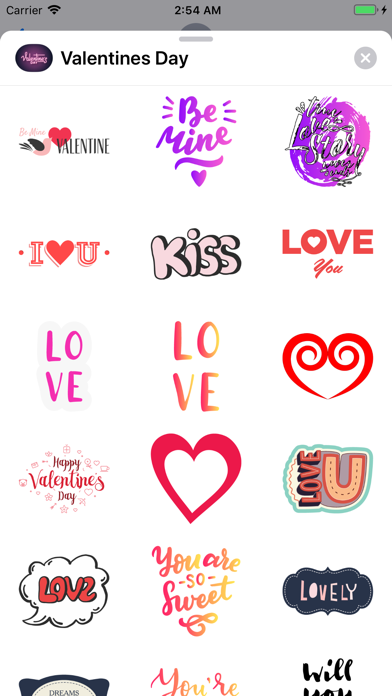 Valentines Day 2019 Stickers screenshot two
