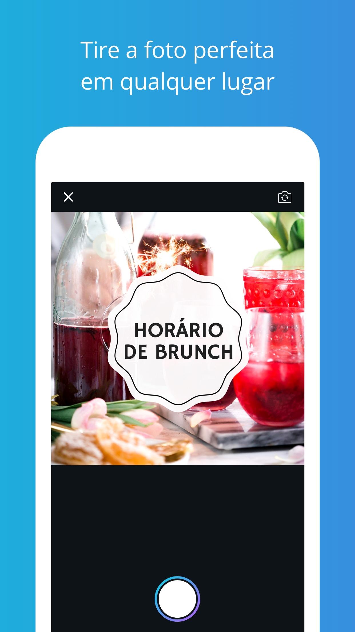 Screenshot do app Canva Criar Imagen Editar Foto