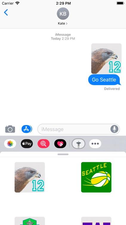 Seattle Stickies for iMessage screenshot-7