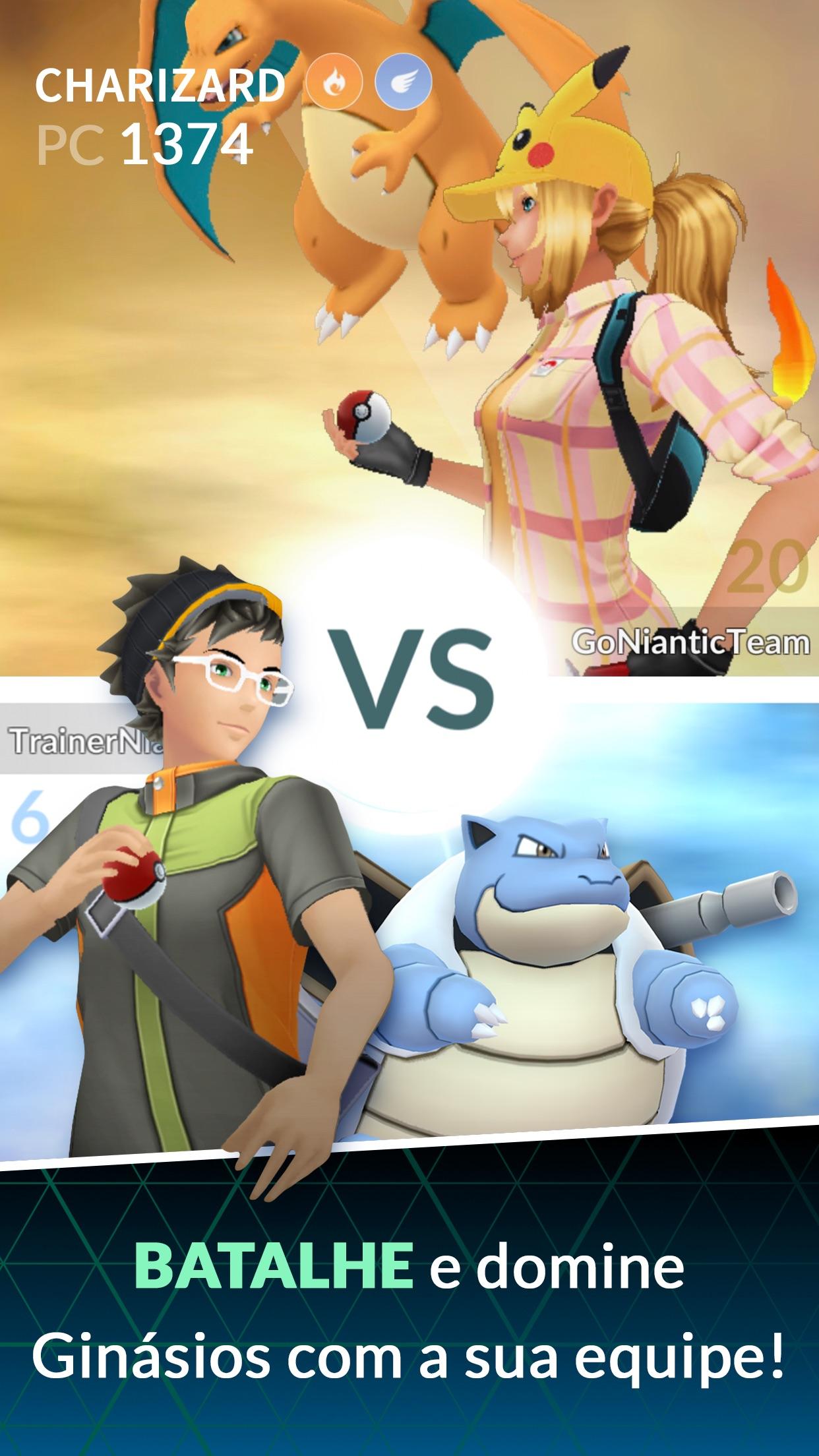 Screenshot do app Pokémon GO