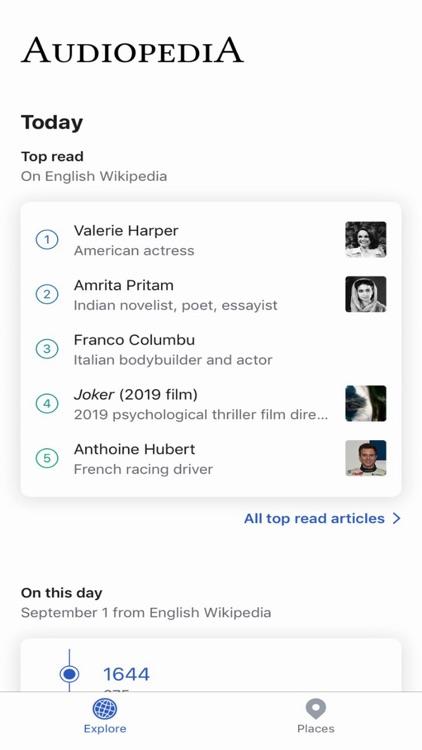 AudioPedia for Wikipedia