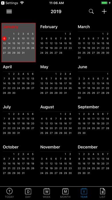 CalendarBlack Pro app image