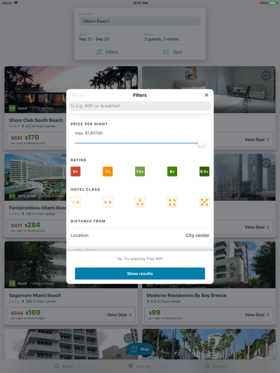 trivago app - hotel deals from 250+ booking sites screenshot