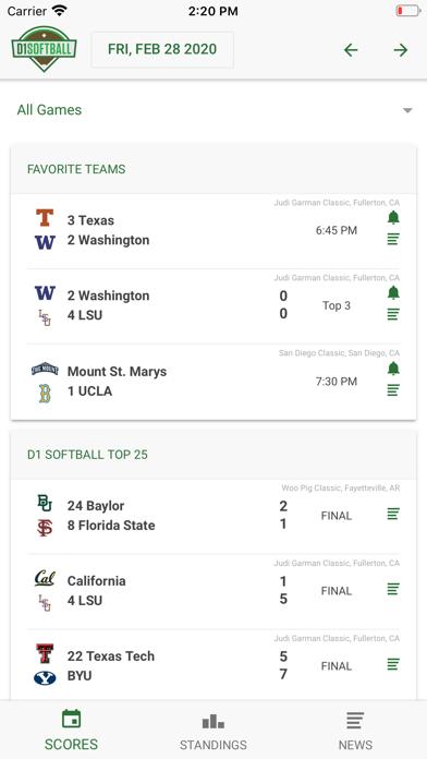 D1 Softball Screenshot