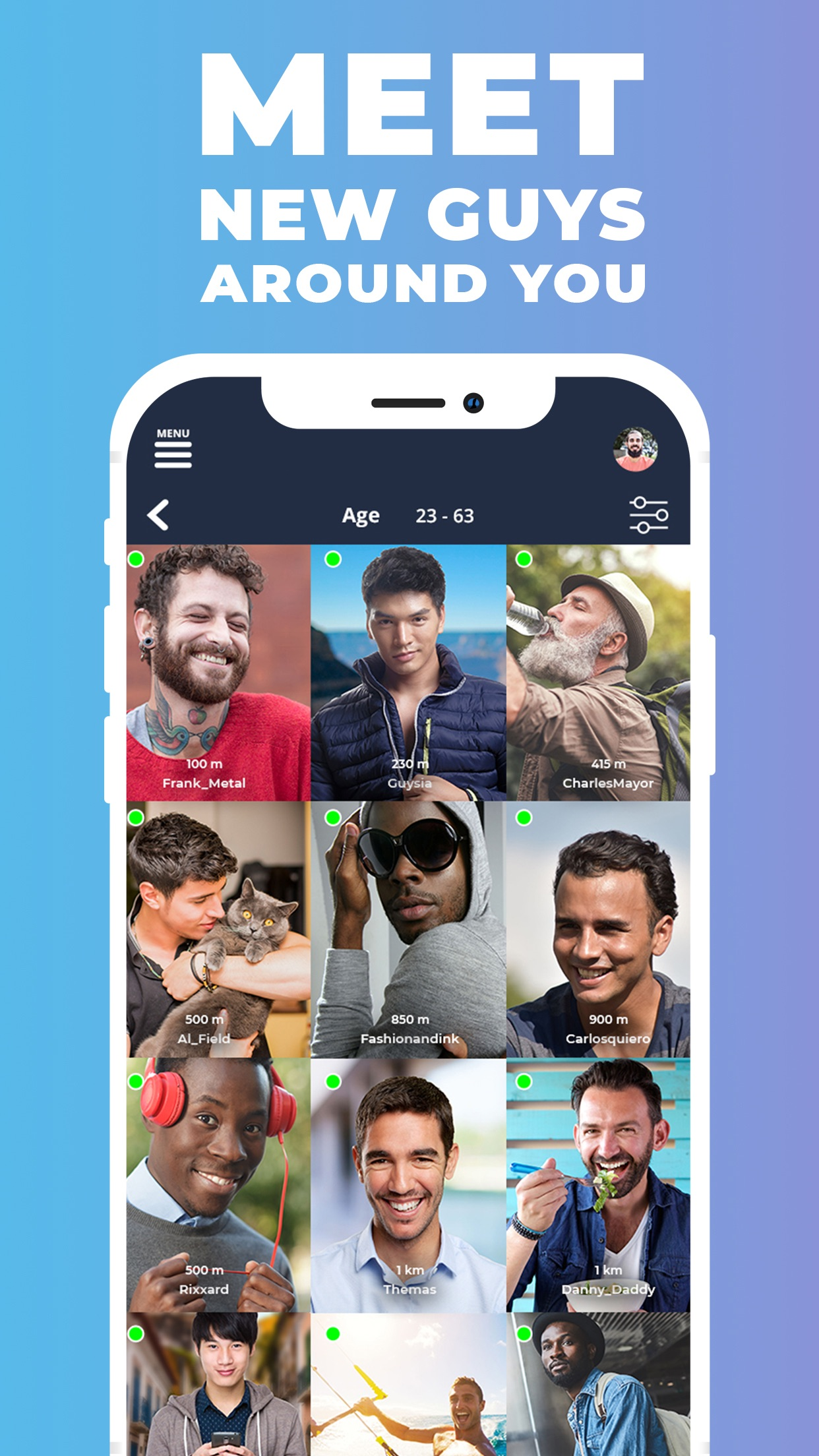 Gaydar - Gay Dating and Chat Screenshot