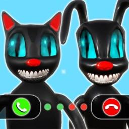 Scary Cartoon Cat Dog Call Me