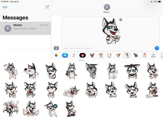 Husky Dog Funny Stickers screenshot 5