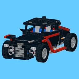 Retro Car for LEGO 9395 Set