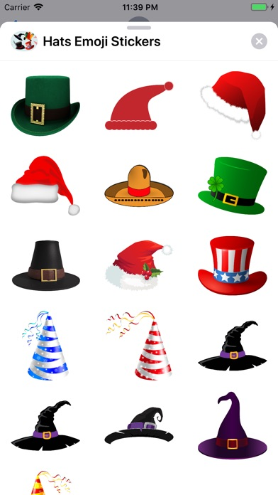 Screenshot for Hats Emoji Stickers in Colombia App Store