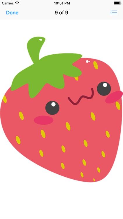Happy Fruit Stickers screenshot-9