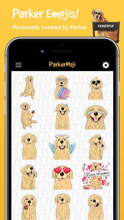 ParkerMoji - Golden Retriever screenshot-1