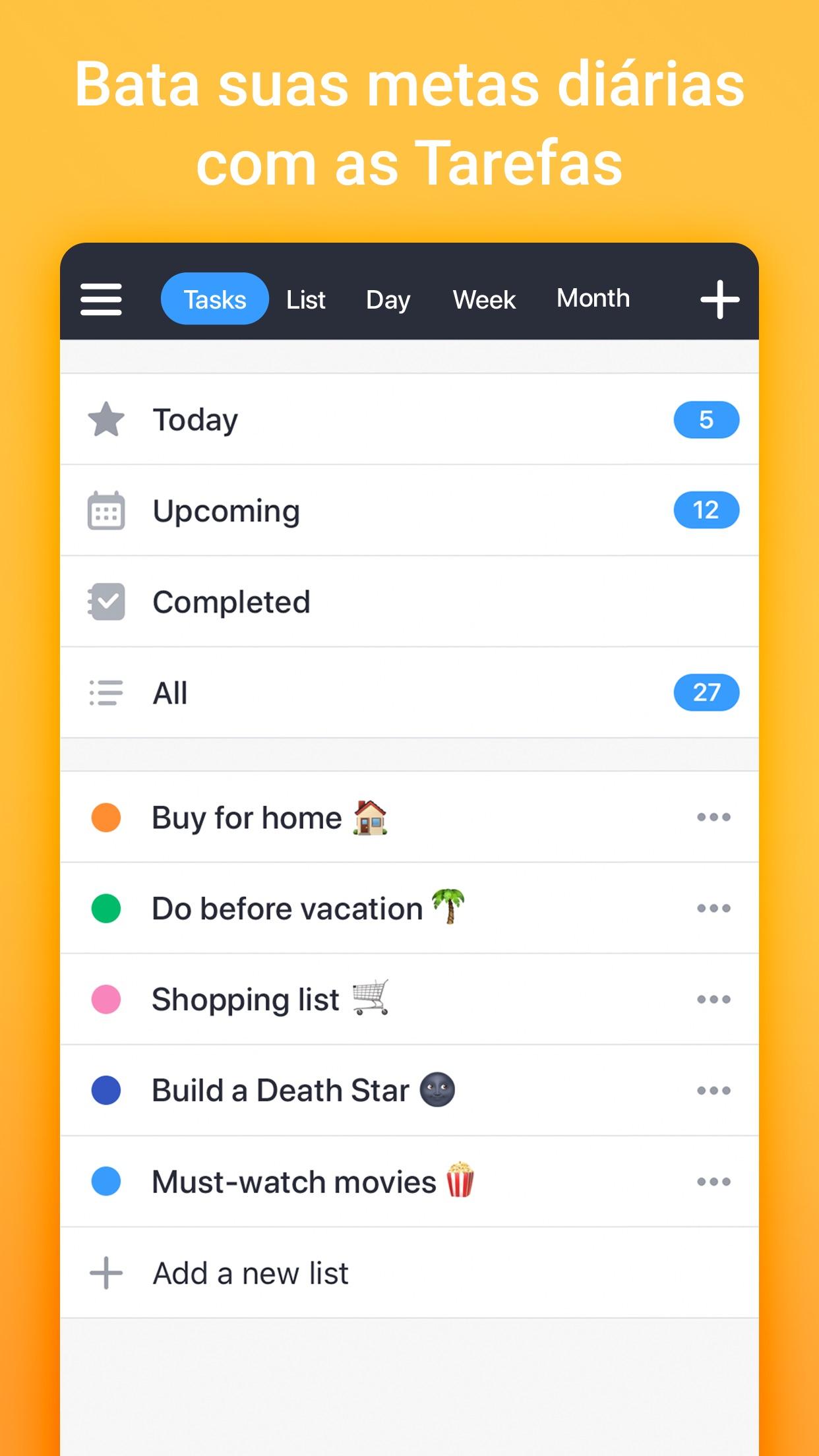Screenshot do app Calendars 5 da Readdle