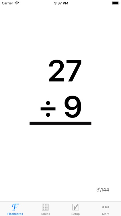 Math Division Flashcards