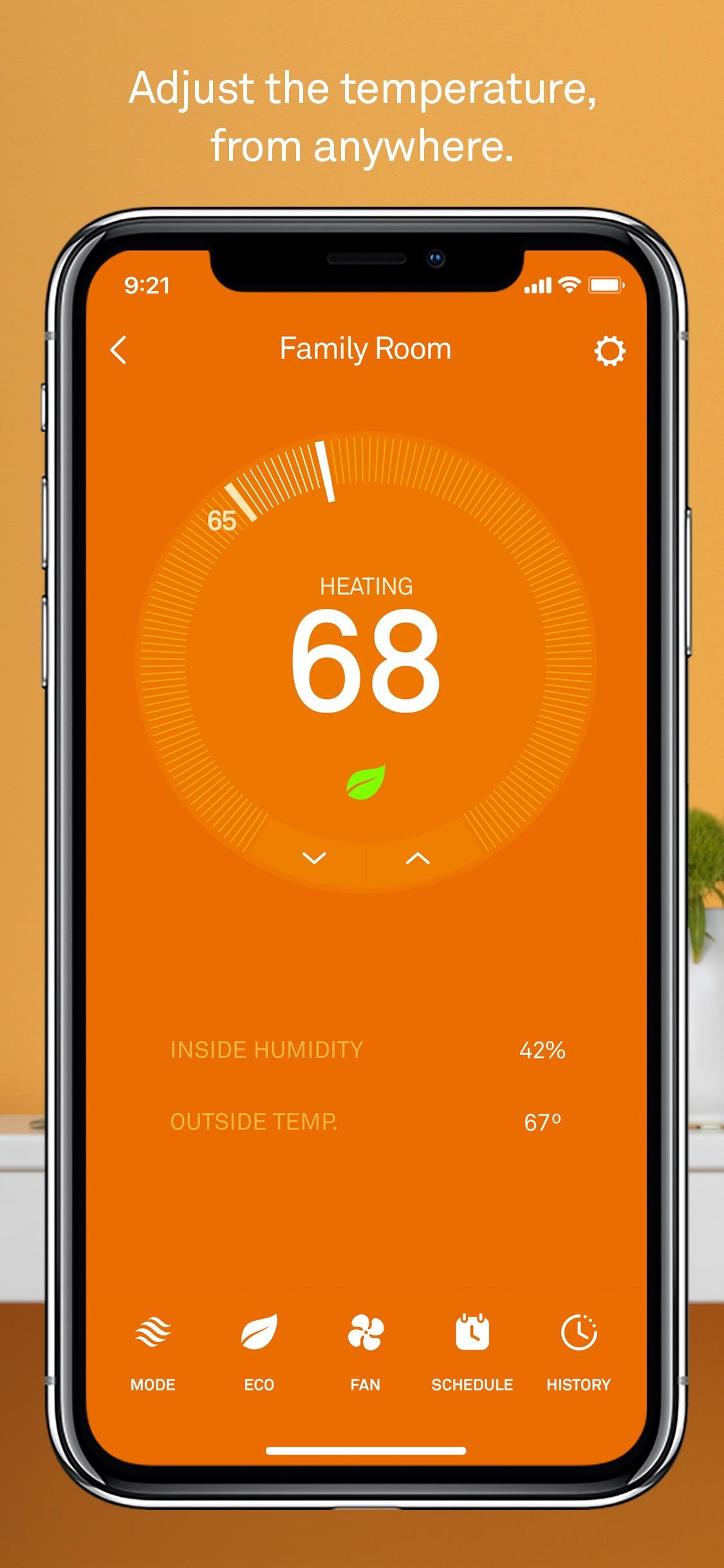 Screenshot do app Nest