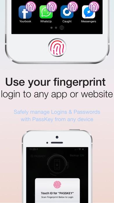 Fingerprint Login:PassKey Lock Screenshot