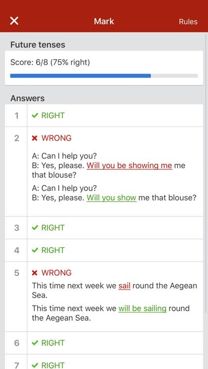 Learn English grammar tenses screenshot-3