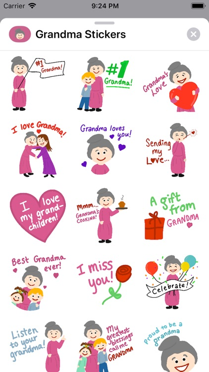 #1 Grandma Stickers