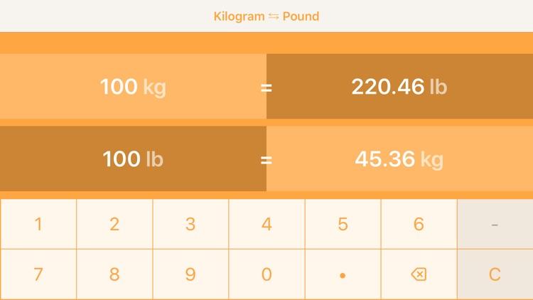 Kilograms To Pounds screenshot-5