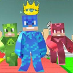 Pixel Masked Heroes Craft Run