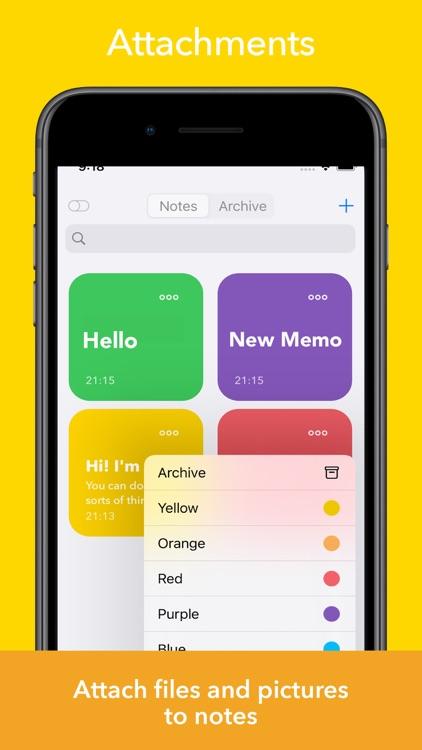 Memo Sticky Notes + Widget
