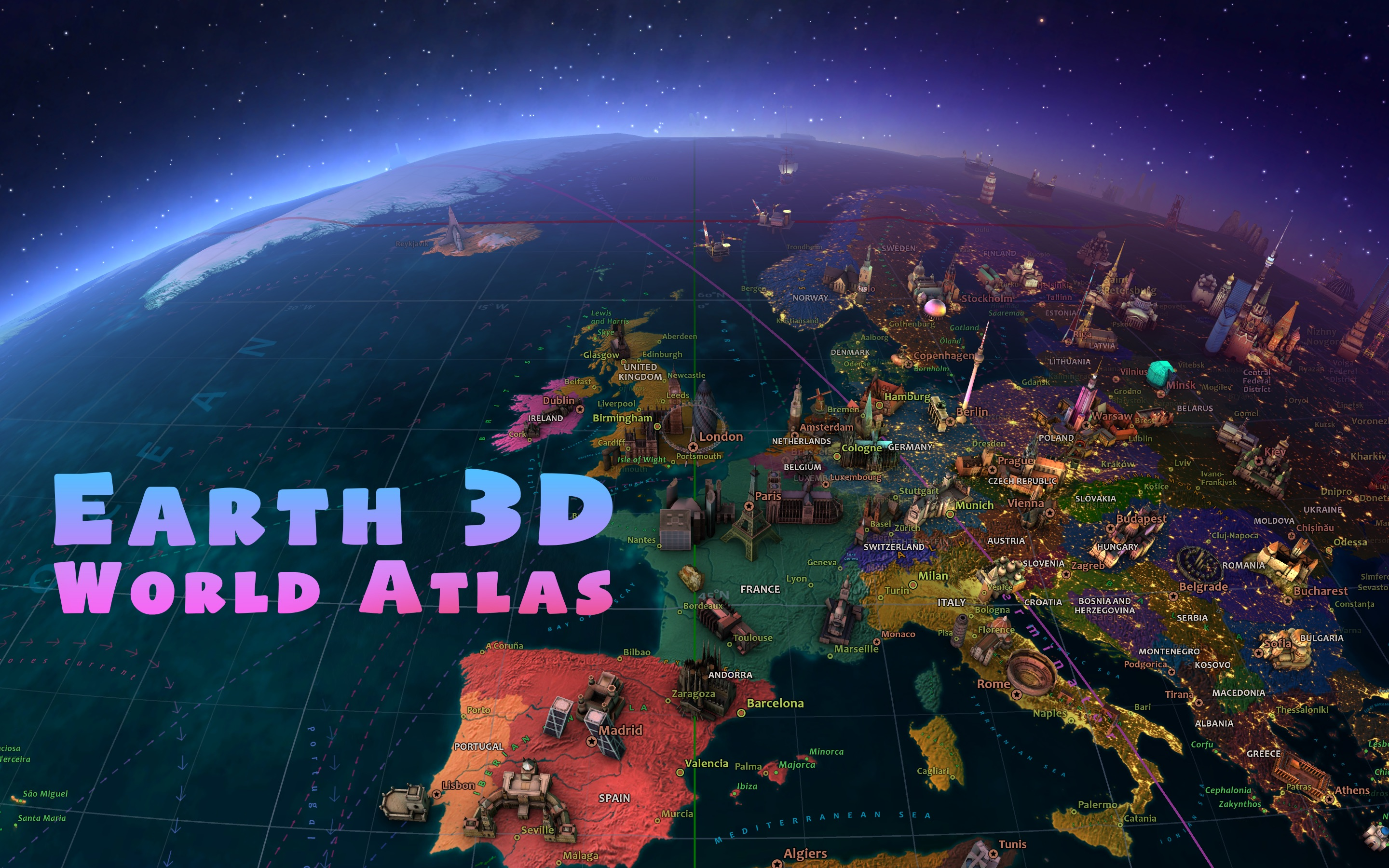 Screenshot do app Earth 3D - World Atlas