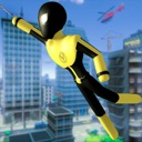 Stickman Spider -Rope Hero Sim
