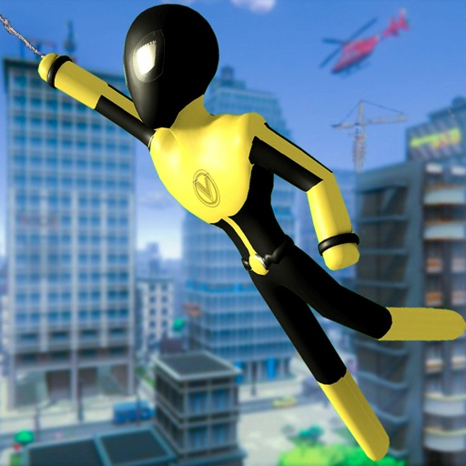 Stickman Spider -Rope Hero Sim iOS App