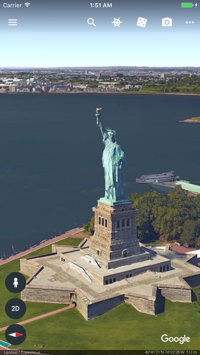 Google Earth iPhone app afbeelding 1