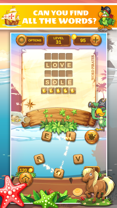Word Pirates: Word Puzzle Game screenshot 1