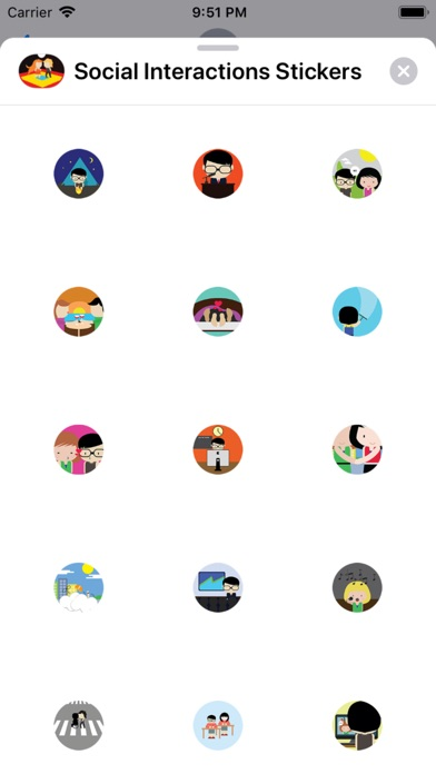 Screenshot for Social Interactions Stickers in Argentina App Store