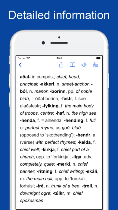 Old Icelandic Dictionary screenshot two