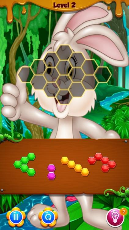 Bunny Hexa Puzzle screenshot-3