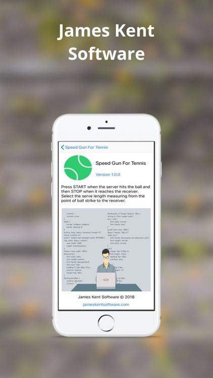 Speed Gun For Tennis screenshot-4