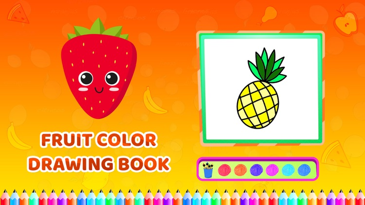 Fruit Colour Drawing Book screenshot-4
