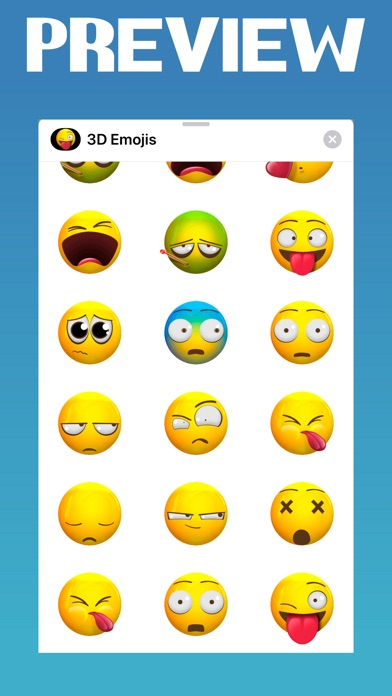 Screenshot for Animated 3d Emojis ◌ in United States App Store