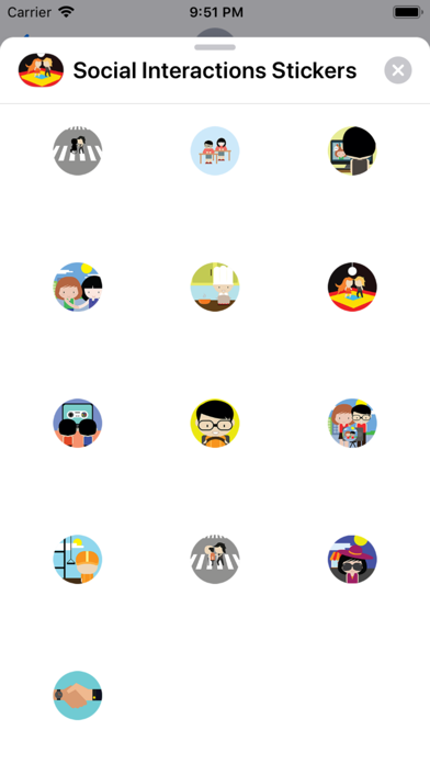 Screenshot for Social Interactions Stickers in Sweden App Store