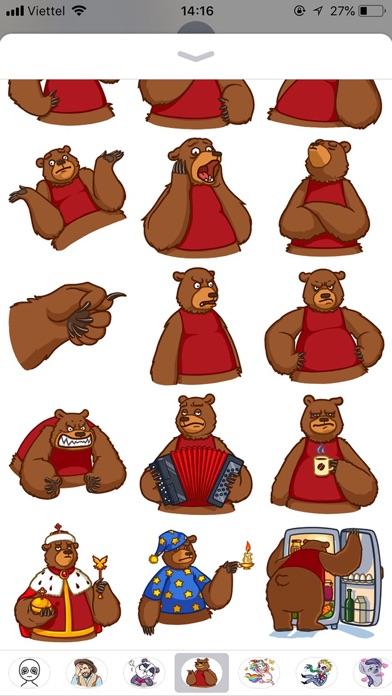 Cute Bear Pun Funny Stickers screenshot 3