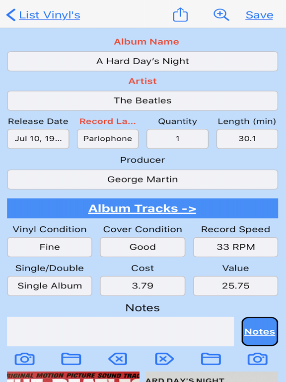 My Vinyl Record Collection Screenshots
