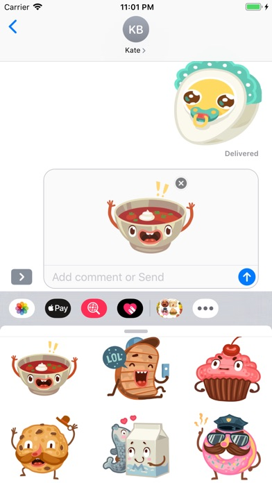 Screenshot for Animated Meals Stickers in Viet Nam App Store